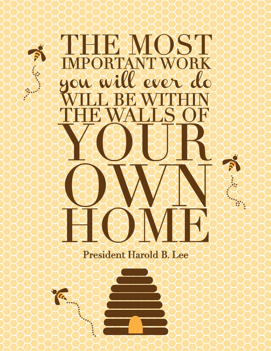 Harold B Lee Quote About Family The Red Headed Hostess