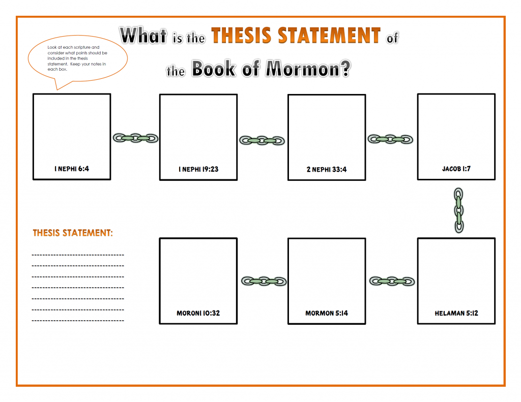 book of mormon thesis statement
