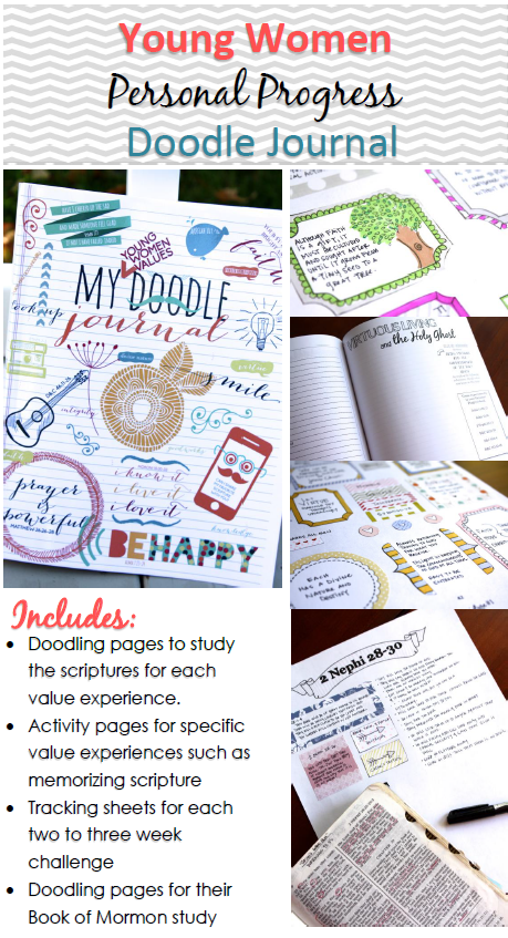 This journal helps make Personal Progress really fun and meaningful! The girls can be so creative with this!