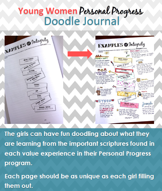 This is a doodle journal for the young women personal progress program! Check it out!