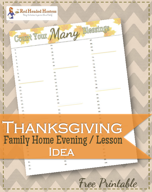 DO THIS! This is a really easy and meaningful way to help us see how many blessings we have!