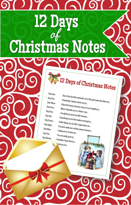 Christmas Notes 12 Days Of Fun The Red Headed Hostess