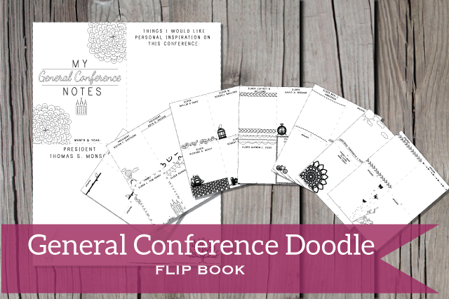 Fun way to take notes for General Conference! There is a page for every Apostle with doodles and pictures you can color as you listen and take notes.