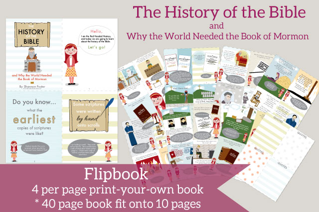 Printable children's book about the history of the Bible and the importance of the Book of Mormon. You will learn so much!