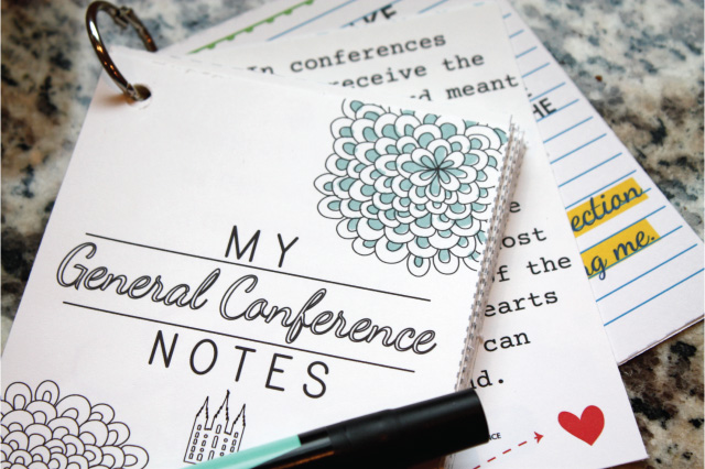 This is a really great way to take notes for General Conference!