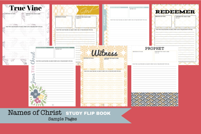 Print your own book to study the names of Christ! These would be awesome for personal or family study! Great for Easter baskets too!