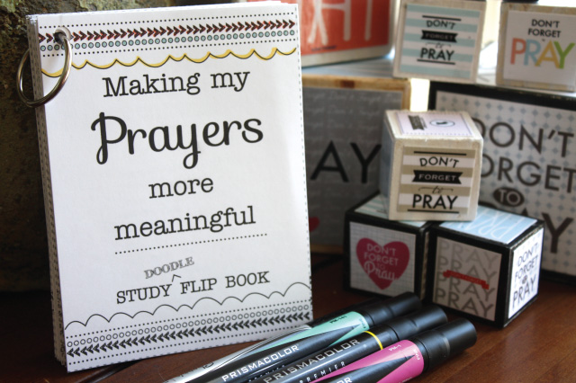 Such a fun way to study about Prayer! This print-your-own flip book really helps you dive into True to the Faith, other scriptures and general conference talks - and then you have it all in one place! And you can color and doodle as you learn! Girls would love this!