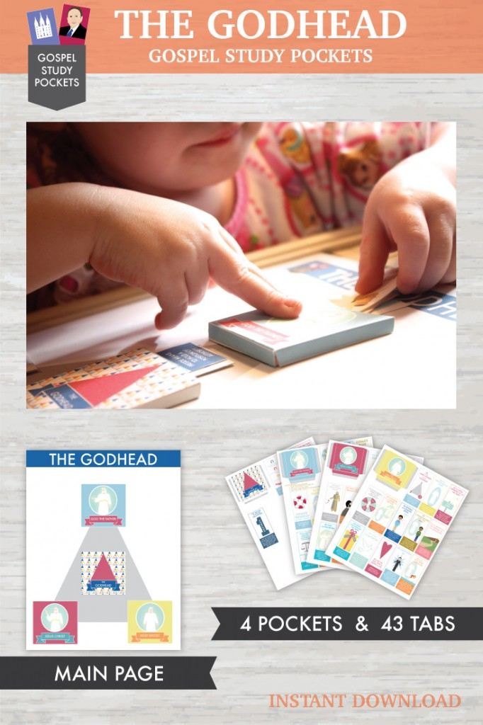 AWESOME printable LDS gospel study pockets about THE GODHEAD.  Your kids will learn so many doctrines!  #ldsgodhead