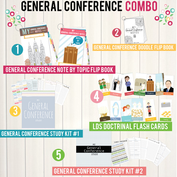 LDS General Conference Notes, General Conference children activity, AND General Conference study packet ALL IN ONE combo. You have to check it out!