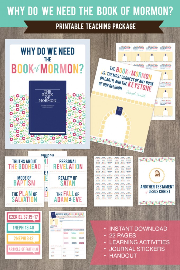 April Come Follow Me: Why do we need the Book of Mormon? This awesome teaching package is so cute and teaches SO MUCH!