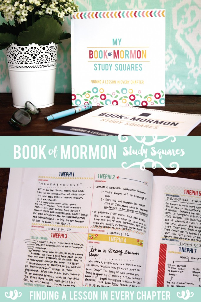Book of Mormon Study Squares! These darling books help you find a lesson in every chapter as you study the Book of Mormon! It is a really effective and fun way to study! You will end up recording 239 lessons you learned! #bookofmormon