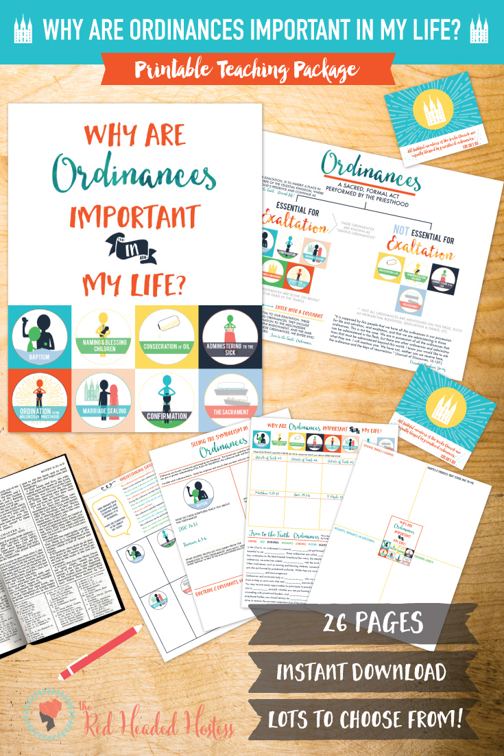 July Come Follow Me: Why are ordinances important in my life? Four GREAT doctrinal study sheets and diagram that really help you understand! TWO Personal Progress experiences, handouts, illustrations...