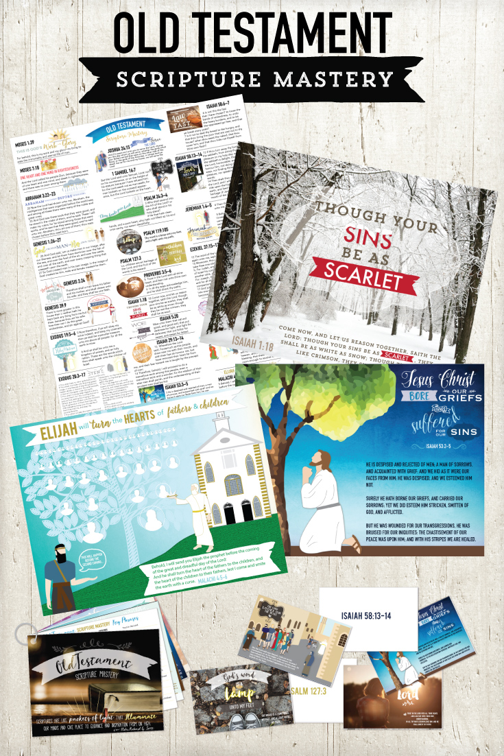 Old Testament Scripture Mastery printable package!  This is packed with amazing things.  Flash cards, printable stickers, quotes, study sheets, posters, etc.!