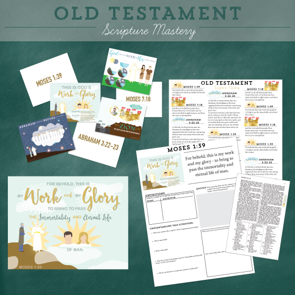 Old Testament Scripture Mastery cards, posters, quizzes, and stickers!  These are illustrated and teach CONTEXT and the DOCTRINES.