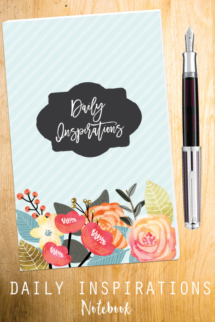 This beautiful journal was created to be able to jot down inspiration and thoughts we receive throughout the day. It can fit easily into your purse!