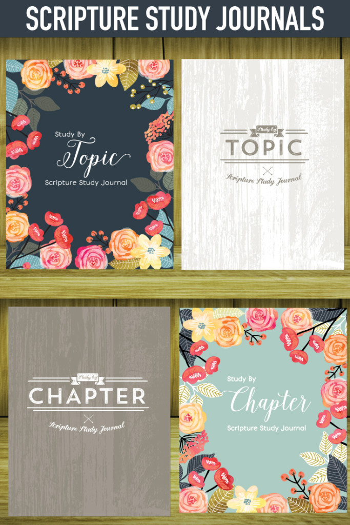 Scripture Study Journals! These journals help you study by TOPIC or CHAPTER. You have to flip through these sample pages!