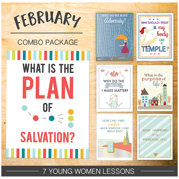 February Young Women: Plan of Salvation - these are amazing lessons that really teach the doctrine!