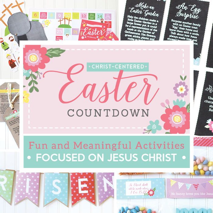 Christ-Centered Easter Countdown. Just print and make these adorable and meaningful Easter decorations. I want them in my home right now!