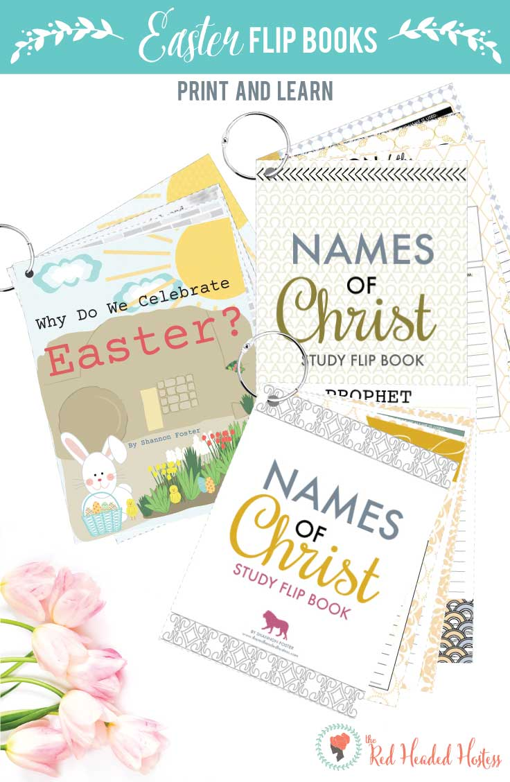 Printable Easter books! Focus on Christ this Easter by studying 72 names of Christ. And the illustrated book about the meaning of Easter and the resurrection is so cute and teaches a ton!