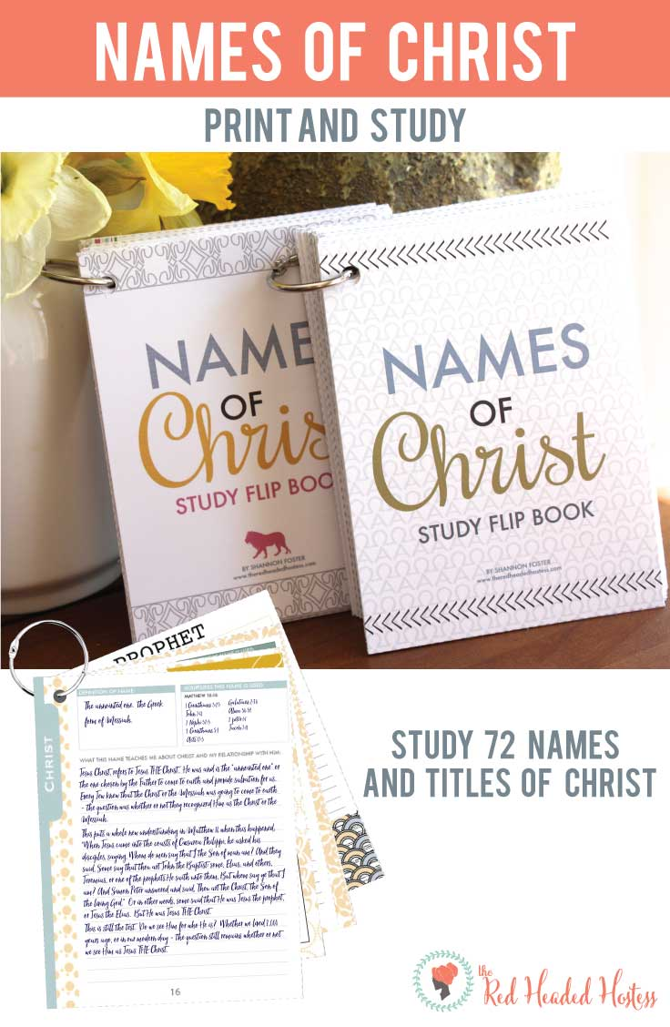 Study 72 names of Christ using this printable study book! Such a neat way to study! There is a boy and girl version too.