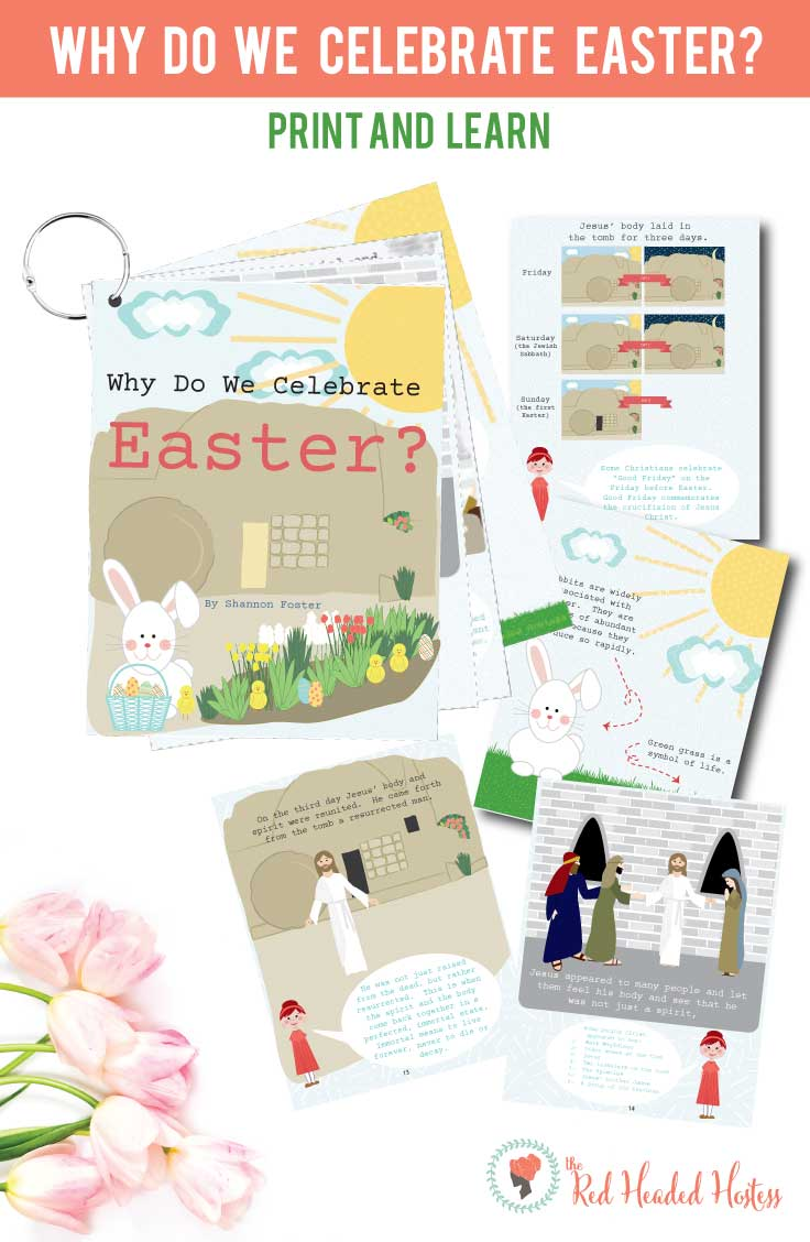 Why Do We Celebrate Easter? Teach your children the meaning of Easter using this darling, illustrated book. It teaches about the resurrection of Christ and how the Easter symbols all around us remind us of the resurrection. So darling!