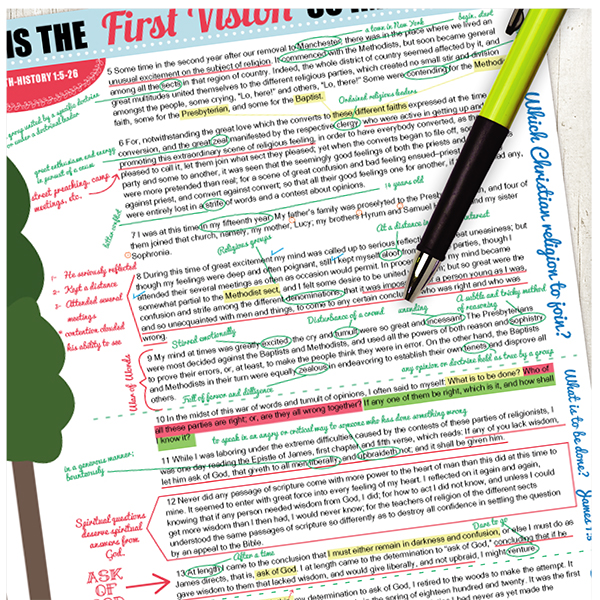 Why is the first vision important? April Young Women lesson. This is a detailed scripture marking guide that will help the youth learn SO MUCH! Great for Faith experience #1 too!