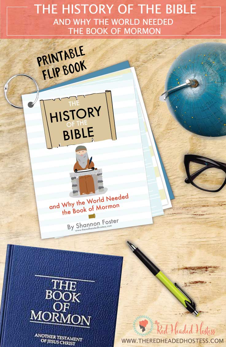 LDS Apostasy and Restoration: This printable book teaches all about the history of the Bible and why the world needed the Book of Mormon. SO informative and darling illustrations too!