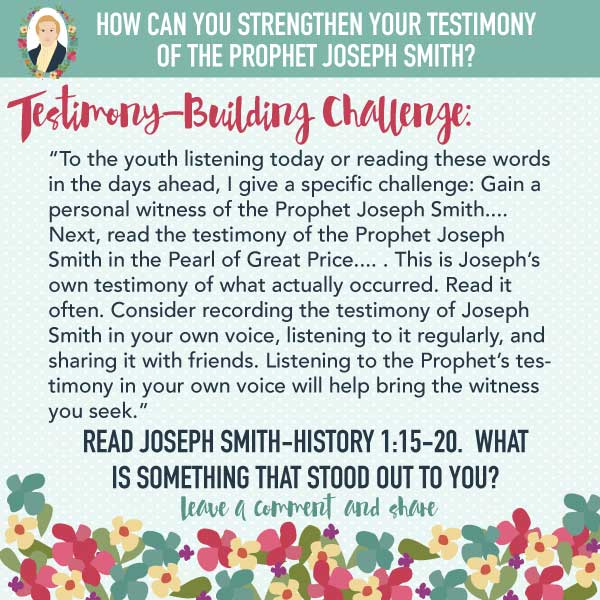 What was Joseph Smith's role in the restoration? Free social media images! Help your youth accomplish Elder Andersen's challenge with these images! Just save the images and post on social media for your youth to see.