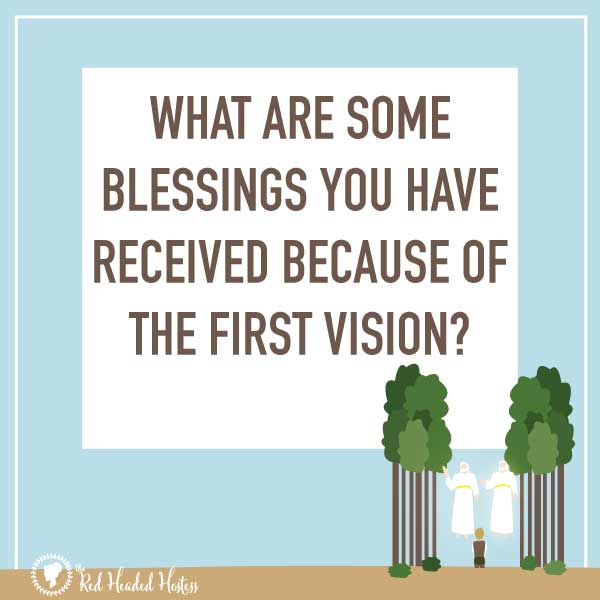 Why is the First Vision important? April Come Follow Me. FREE social media images that you can share with your youth before the lesson to help them prepare - or share after as a follow up! So neat!