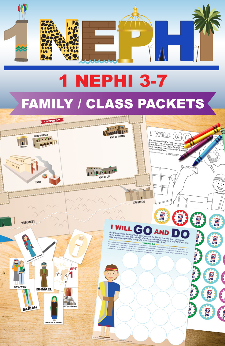 Book of Mormon lessons - 1 Nephi 3-7. Families are going to love these printable packages by The Red Headed Hostess. They are packed with amazing learning activities for toddlers to teens!