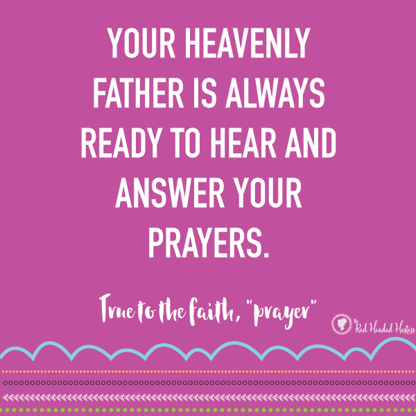 How Can I Make My Prayers More Meaningful? May Come Follow Me - FREE social media images! Such a great way to help prepare the youth or follow up after a lesson!
