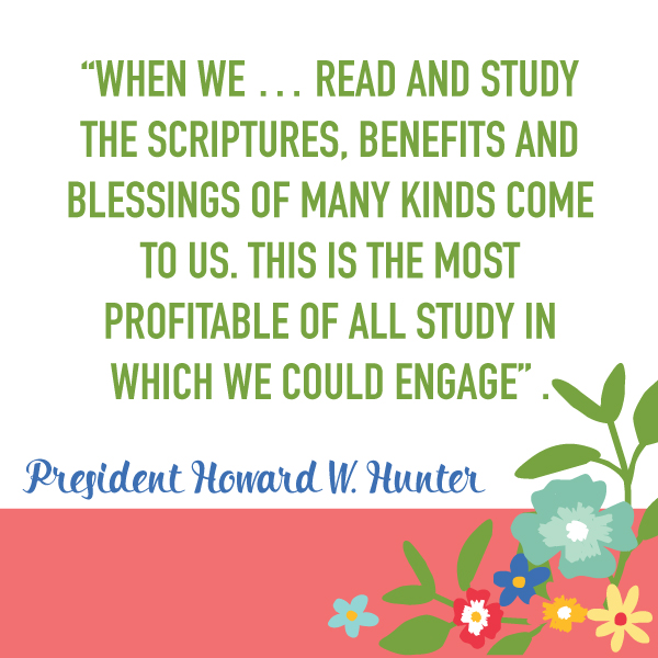"""Why is it important to study the scriptures?"" May young women lesson. FREE social media images. Great to get the youth thinking before the lesson or for reminders after the lesson!"