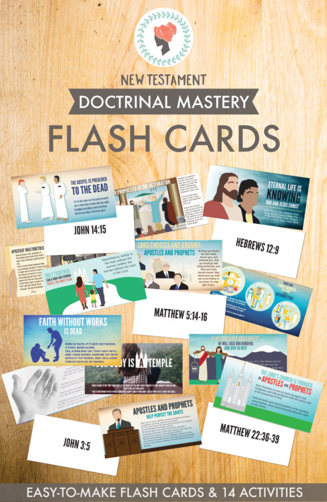 New Testament Doctrinal Mastery - Flashcards. So easy to make and comes with 14 awesome learning activities!