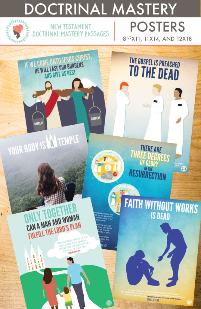 New Testament Doctrinal Mastery Passages - Printable Posters for LDS seminary and families. Beautifully illustrated posters that visually teach these amazing scriptures!