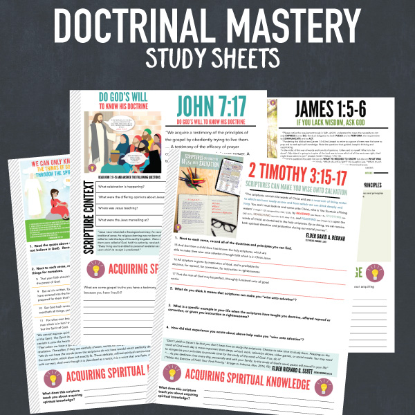 Doctrinal Mastery for New Testament - LDS Seminary. Printable posters, flash cards, and study sheets.