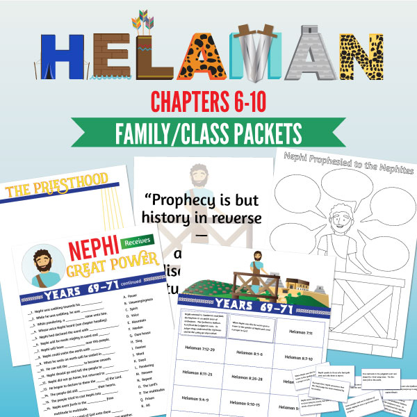 Primary 4 lesson 30 or perfect family scripture study packets! Printable class and study helps!