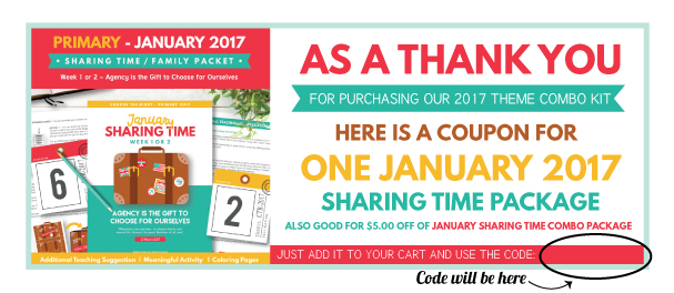 January Sharing Time Coupon