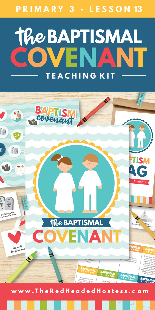 The Baptismal Covenant - Primary 3 Lesson 13 Teaching Helps and Ideas