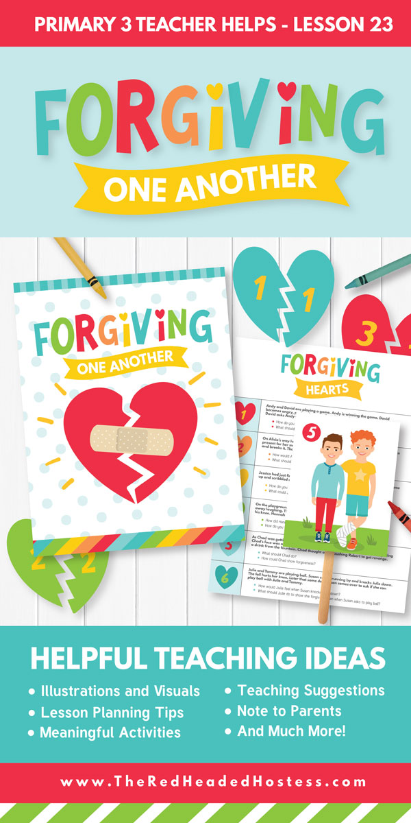 Awesome Primary Lesson Kit - Forgiving One Another (Primary 3 Lesson 23)