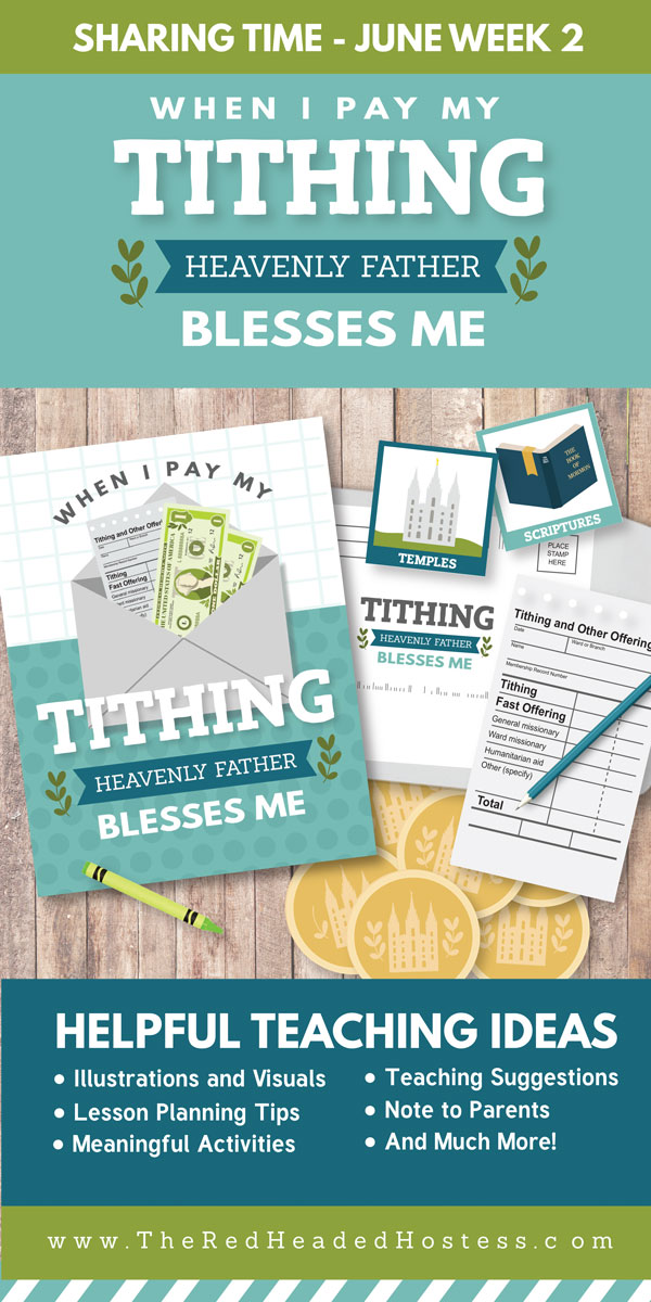 Primary Sharing Time - When I Pay My Tithing, Heavenly Father Blesses Me (June 2017)