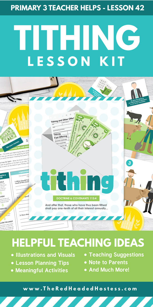 Tithing Lesson (Perfect for Primary or Family Home Evening) - Includes Primary games, teaching ideas, and more! (Primary 3 Lesson 42)