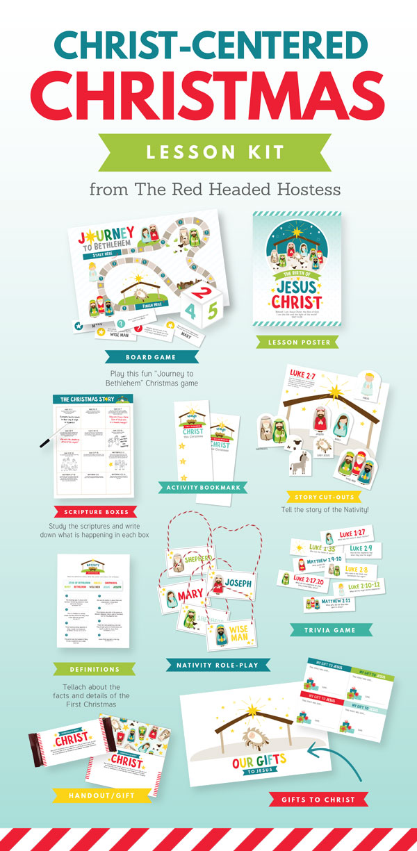 Christ Centered Christmas Lesson - Perfect for Primary, family home evening, or Sharing Time!