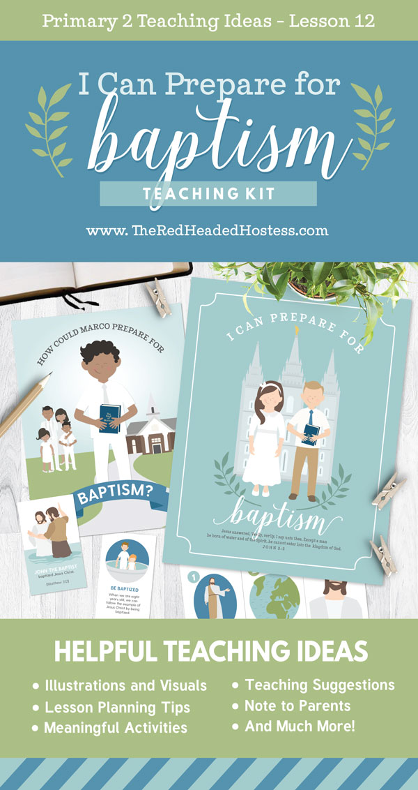 I Can Prepare for Baptism (Primary 2 Lesson 12) - Fun Primary games, teaching ideas, and so much more!