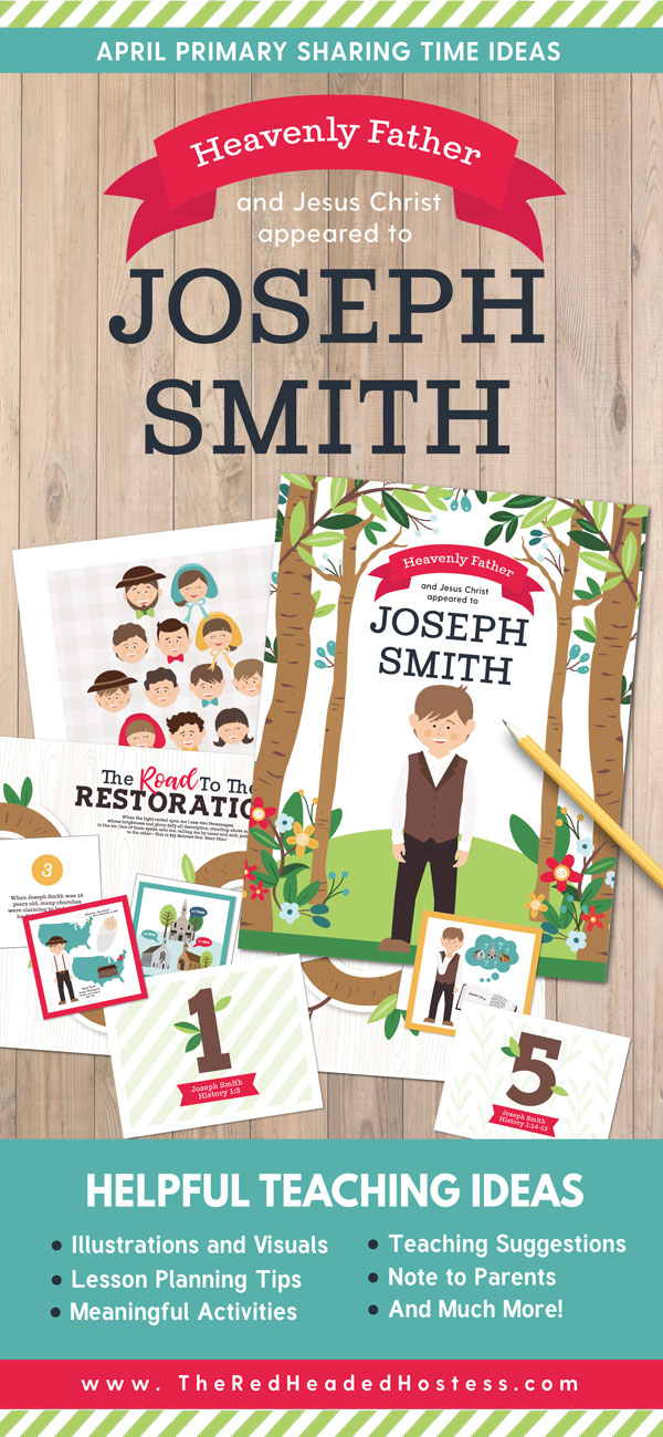 Primary Sharing Time Ideas for April 2018 - Heavenly Father and Jesus Christ Appeared to Joseph Smith (Fun Primary games, teaching ideas, and so much more!)