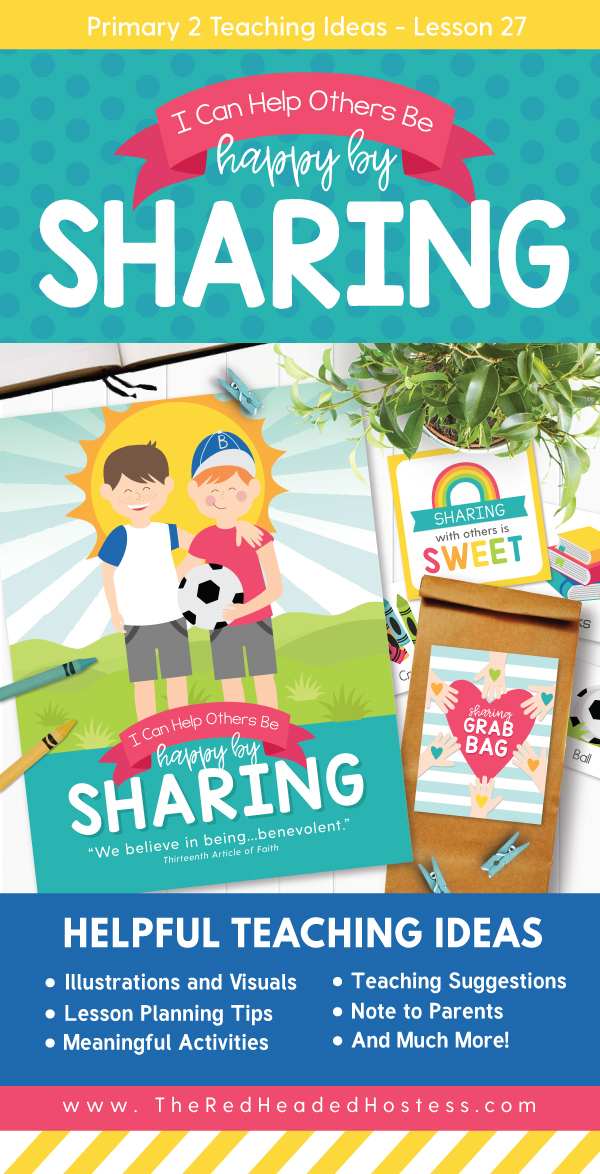 I Can Help Others Be Happy by Sharing (Primary 2 Lesson 27) - Fun LDS Primary games, teaching ideas, and more!