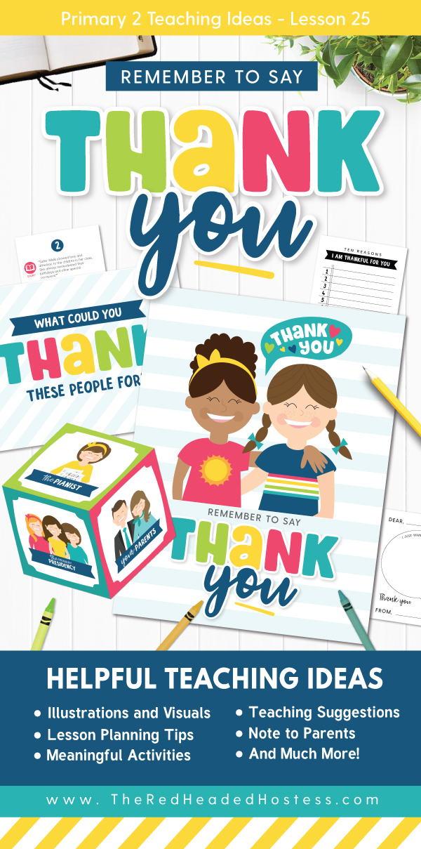 Remember to Say Thank You (Primary 2 Lesson 25) - Fun Primary games, teaching ideas, and more!