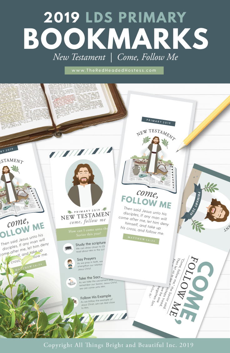 2019 LDS Primary Bookmarks (New Testament - Come Follow Me)
